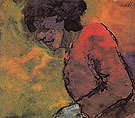 Woman in a Red Dress - Emile Nolde