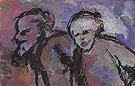 Old Couple in Dark Light Twilight - Emile Nolde