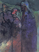 Conversation Green and Violet - Emile Nolde reproduction oil painting