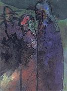 Conversation Green and Violet - Emile Nolde