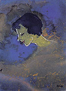 Young Woman in Profile - Emile Nolde