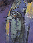 Family Dark Blue and Green - Emile Nolde