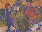 Group of People - Emile Nolde reproduction oil painting
