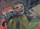 Grotesque Figures Red Yellow Green - Emile Nolde