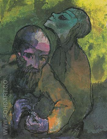 Old Man and Woman - Emile Nolde reproduction oil painting