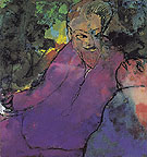 Grotesque Couple - Emile Nolde reproduction oil painting