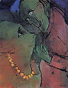 Frog Green Couple - Emile Nolde reproduction oil painting