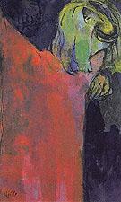 Green Head above Red Cloak - Emile Nolde
