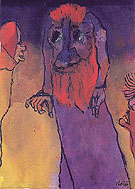 Red bearded Treeman - Emile Nolde reproduction oil painting