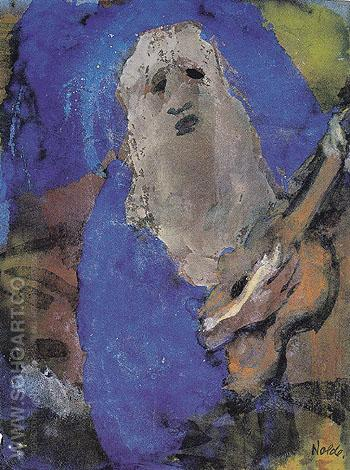 Hoary Old Man Singing - Emile Nolde reproduction oil painting