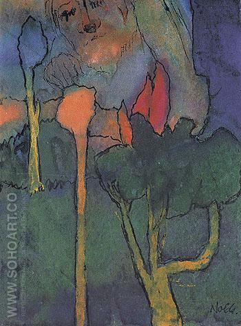 The Great Gardener - Emile Nolde reproduction oil painting