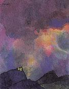 Dark Mountain Landscape - Emile Nolde