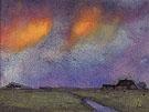 Marshy Landscape under the Evening Sky - Emile Nolde