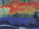 Blue Sea and Red Clouds - Emile Nolde