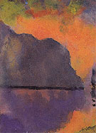 Cliff by the Sea in Evening Light - Emile Nolde