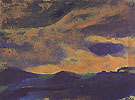 Dark Sea with Brown Sky - Emile Nolde