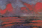 Landscape in Red Light - Emile Nolde