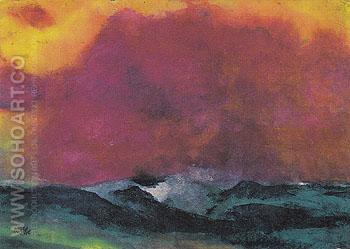 Sea with Red Sky - Emile Nolde reproduction oil painting