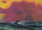 Sea with Red Sky - Emile Nolde