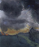 Mountain Landscape with Dark Clouds - Emile Nolde