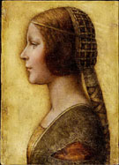 La Bella Principessa - Leonardo da Vinci reproduction oil painting