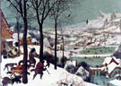 Hunters in the Snow 1565 - Bruegel Pieter reproduction oil painting