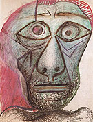 Self Portrait Head 1972 - Pablo Picasso reproduction oil painting