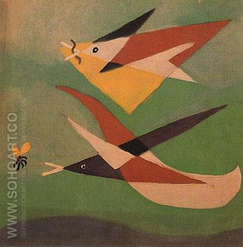 The Swallows 1932 - Pablo Picasso reproduction oil painting