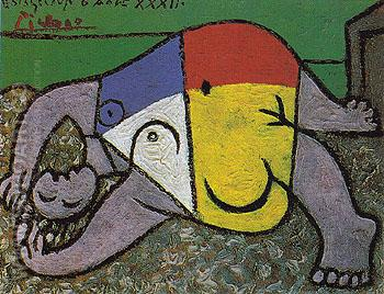 Reclining Woman on the Beach 1932 - Pablo Picasso reproduction oil painting