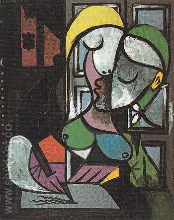 Woman Writing 1934 - Pablo Picasso reproduction oil painting