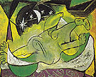 Reclining Female Nude with Starry Sky 1936 - Pablo Picasso reproduction oil painting