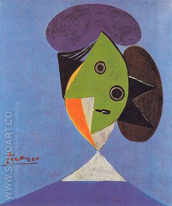 Bust of a Woman 1935 - Pablo Picasso reproduction oil painting