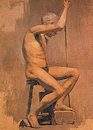 Academic Nude c1895 - Pablo Picasso reproduction oil painting