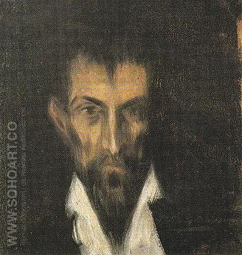 Head of a Man in the Style of El Greco 1899 - Pablo Picasso reproduction oil painting