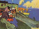 Gypsy Outside La Musciera 1900 - Pablo Picasso reproduction oil painting