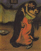 The Brutal Embrace 1900 - Pablo Picasso reproduction oil painting