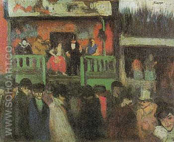 The Montmartre Fair 1900 - Pablo Picasso reproduction oil painting