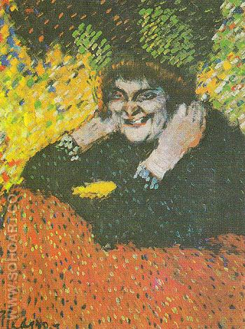 Bedizened Old Woman 1901 - Pablo Picasso reproduction oil painting