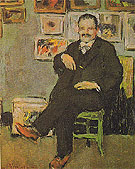 Portrait of Gustave Coquiot A 1901 - Pablo Picasso reproduction oil painting