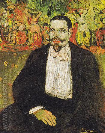 Portrait of Gustave Coquiot B 1901 - Pablo Picasso reproduction oil painting