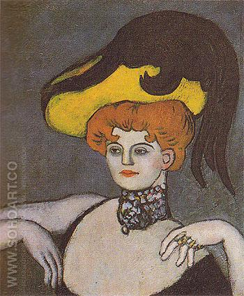The Kept Woman  1901 - Pablo Picasso reproduction oil painting