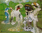 Woman Chatting at the Races 1901 - Pablo Picasso reproduction oil painting