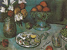 Still Life The Dessert 1901 - Pablo Picasso reproduction oil painting
