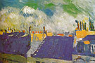 The Blue Roofs 1901 - Pablo Picasso reproduction oil painting