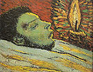The Death of Casagemas 1901 - Pablo Picasso reproduction oil painting