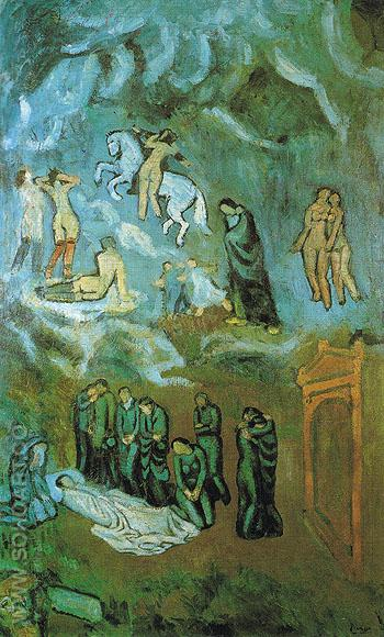 Evocation The Burial of Casagemas 1901 - Pablo Picasso reproduction oil painting
