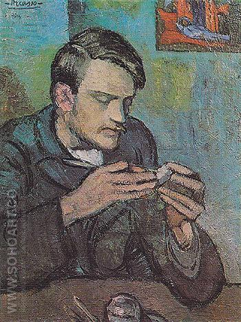 Portrait of Mateu Fernandez de Soto 1901 - Pablo Picasso reproduction oil painting