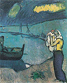 Mother and Son on the Seashore 1902 - Pablo Picasso reproduction oil painting