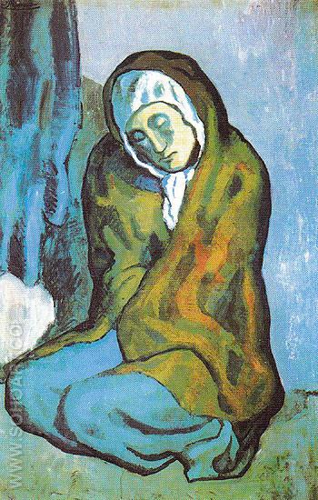 Crouching Beggar 1902 - Pablo Picasso reproduction oil painting