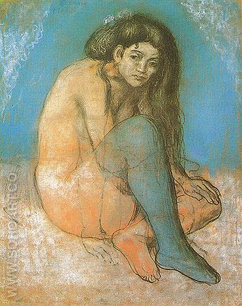 Nude with Crossed Legs 1903 - Pablo Picasso reproduction oil painting
